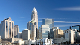 the skyline of Charlotte