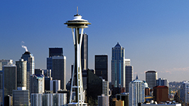 the skyline of Seattle